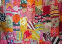 vintage patchwork kantha quilt blanket indian quilts bedspread queencotton throw Stylish Vintage Patchwork Quilts For Sale