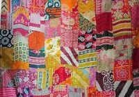 vintage patchwork kantha quilt blanket indian quilts bedspread twin cotton throw ebay Elegant Vintage Patchwork Quilts