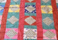 vintage patchwork quilt squares and diamonds hand made tied quilt flannel back cozy and warm Elegant Vintage Patchwork Quilt Gallery