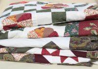 vintage quilt bedspreads patchwork star ring patterns green Elegant Vintage Quilts And Bedspreads Inspirations