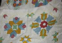 vintage quilt block design with names embroidered for the blocks fabric pillow panel makes one pillow Stylish Vintage Quilt Blocks Inspirations