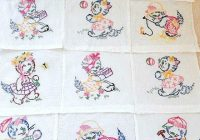 vintage quilt blocks 12 hand embroidered nursery quilt 9 Stylish Embroidery Patterns For Quilts Gallery