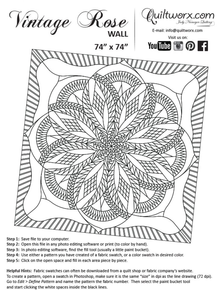 Permalink to Stylish Vintage Rose Quilt Pattern Inspirations