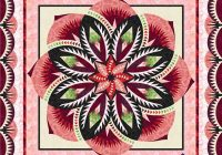 vintage rose technique of the month class second series kikis quilt shack Stylish Vintage Rose Quilt Pattern Inspirations