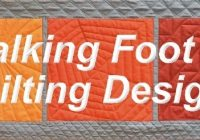 walking foot quilting designs Cool Walking Foot Quilting Patterns Inspirations