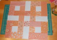 waste knot block orange quilting quilt blocks strip Stylish Waste Knot Quilt Instructions