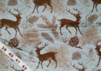 wildlife flannel fabric with deer elk pinecone trees cotton print quilt quilting sewing material to sew the yard crafts crafting project 11 Modern Deer Fabric For Quilting Inspirations