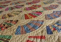 wonderful hand stitched antique vintage fan quilt ebay Modern Ebay Vintage Quilts Inspirations