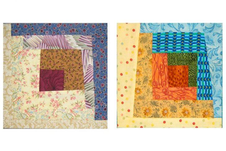Permalink to Elegant Wonky Log Cabin Quilt Pattern