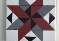 wooden barn quilt colors red gray black and white Cozy Barn Quilt Designs Patterns Inspirations