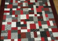 yellow brick road quilt in red white and black fabrics Red And Black Quilt Patterns