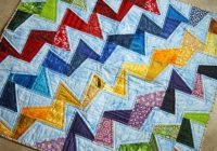 zig zag quilt pattern triangles zig zag quilt tutorial no Unique Zig Zag Quilt Pattern No Triangles